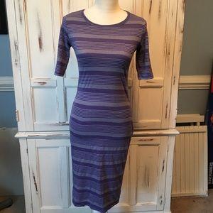 LulaRoe Purple Julia Dress XS
